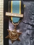 Medalla Miniatura Air Crew Europe Star. Francia Y Alemania. 1939-1945. II Guerra Mundial. Reproduccion Actual De La Orig - France