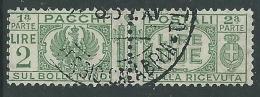 1927-32 REGNO USATO PACCHI POSTALI 2 LIRE - Z12-8
