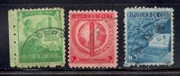 Cuba 1938 SC# 356-358 - Cuba