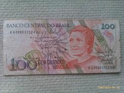 Billete Brasil. 100 Cruzados Novos. - Brasil