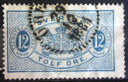 SUEDE             SERVICE 1874      N° 6   Dentelé 13             OBLITERE - Service