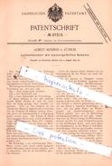 Original Patent - Albert Schmid In Zürich , 1895 , Luftbefeuchter Mit Wassergefüllten Schalen !!! - Documents Historiques