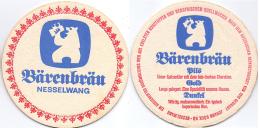#D144-080 Viltje Bären Bräu Nesselwang - Sous-bocks