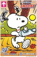 Carte Prépayée  Japon * CARTOON * CHIEN * SNOOPY (496) BD COMICS * DOG Japan PREPAID CARD * HOND * HUND - Stripverhalen