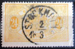 SUEDE             SERVICE 1874      N° 8   Dentelé 13             OBLITERE - Service