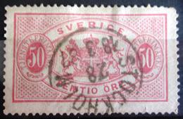 SUEDE             SERVICE 1874      N° 10   Dentelé 13             OBLITERE - Service