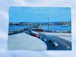 C.P.A. 33 BORDEAUX : Le Pont De Pierre, Voitures Années 1960, Bus Rouges - Bordeaux