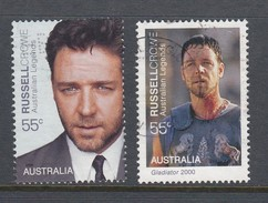 Australia  2009 Legends Of The Screen - Russell Crowe Portrait & Gladiator Used
