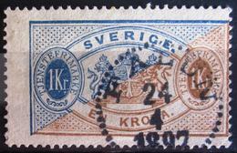 SUEDE             SERVICE 1874      N° 11   Dentelé 13             OBLITERE - Service