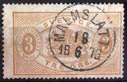 SUEDE             SERVICE 1874      N° 1B      Dentelé 14             OBLITERE - Service