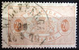 SUEDE             SERVICE 1874      N° 7B      Dentelé 14             OBLITERE - Service