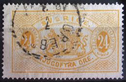 SUEDE             SERVICE 1874      N° 8B      Dentelé 14             OBLITERE - Service