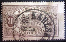 SUEDE             SERVICE 1874      N° 9B      Dentelé 14             OBLITERE - Service