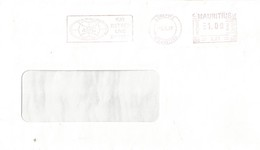 """Mauritius Maurice 1999 Curipipe Meter Franking Pitney Bowes-GB """"6300"""" A33 Slogan Domestic Cover - Mauritius (1968-...)"""