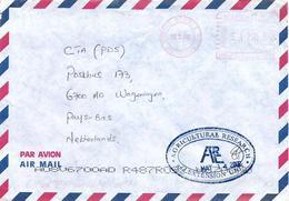 """Mauritius Maurice 2002 Quatre Bornes Meter Franking Pitney Bowes-GB """"Paragon"""" PS0067 Cover - Mauritius (1968-...)"""