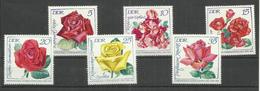 """DDR 1763-1768 Satz Kpl..""""Internationale Rosenausstellung"""" Postfrische Mi.-Preis 2,80 €"""