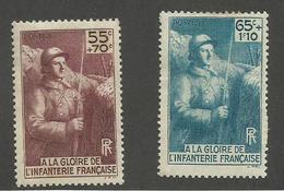 FRANCE - N°YT 386/87 NEUFS* AVEC CHARNIERE - COTE YT : 10.70€ - 1938