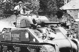 Militaria WW2 -  Char Sherman De La 2ème DB En Normandie - 1939-45