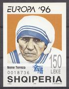 Albanie 1996  Mi.nr:.Block 107 Europa: Mutter Teresa  NEUF SANS CHARNIERE / MNH / POSTFRIS - Albanië