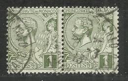 """Monaco 11 Paar """"0,01 Fr.-Freimarken Mit Abbild Fürst Albert I"""" Gestempelt. Tip-top Mi.3,00 € - Oblitérés"""
