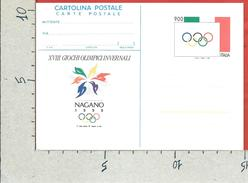 ITALIA REPUBBLICA CARTOLINA POSTALE MNH - 1998 - Nagano 1998 - £ 900 - C235 - 6. 1946-.. Repubblica