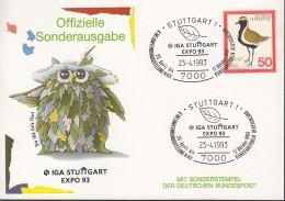 BRD 901 Auf Sonderkarte Mit Sonderstempel: Stuttgart IGA EXPO '93  23.4.1993 - [7] West-Duitsland