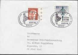BERLIN 364, 603 MiF Auf Auslandsbrief Mit Sonderstempel: Aachen AIXPO '80 50 Jahre BFeV 10.10.1980 - BRD