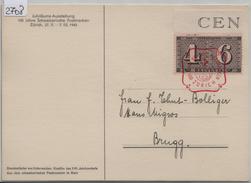 1943 258/416 Stempel: 100 Jahre Schweiz. Postmarken Zürich 28.2.1943 AK Standesläufer Unterwalden - Marcophilie