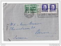 EU - 18179  - Enveloppe Envoyée De Cortina D´Ampezzo En Suisse 1937