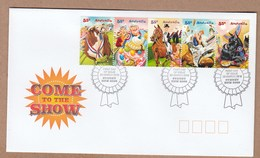 Australia FDC 2010 Come To The Show -  Strip 5 Sheet Stamps