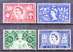 GREAT  BRITAIN   313-6  *  Q E II  CORONATION  1953 - 1952-.... (Elizabeth II)