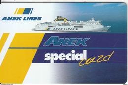 GREECE - ANEK Lines Charge Card, Sample - Hotelkarten