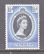GAMBIA  152  *  Q E II  CORONATION  1953 - Gambia (...-1964)
