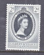 GILBERT & ELLIS ISLANDS  60  *  Q E II  CORONATION  1953 - Gilbert & Ellice Islands (...-1979)