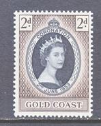 GOLD COAST  160  *  Q E II  CORONATION  1953 - Gold Coast (...-1957)