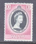 KEDAH  82   *  Q E II  CORONATION  1953 - Kedah