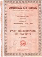 Ancienne Action - Charbonnages De Tuyen-Quang - Tonkin - Indochine- Titre De 1928 - Mines