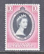 SELANGOR  101  *  Q E II  CORONATION  1953 - Selangor