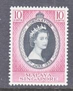 SINGAPORE  27  *  Q E II  CORONATION  1953 - Singapore (1959-...)