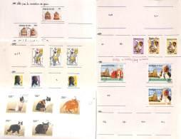 Tchad 1989 - N° 515, Petit Lot Sur Feuille, Poste, Chats & Félins, Libération, Jean Paul II - Ciad (1960-...)