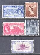 NEW  ZEALAND  280-4  *  Q E II  CORONATION  1953 - New Zealand