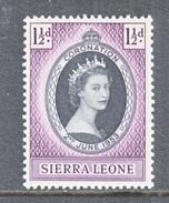 SIERRA  LEONE  194  *  Q E II  CORONATION  1953 - Sierra Leone (...-1960)