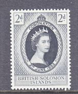 BRITISH  SOLOMON  ISLANDS  88  *  Q E II  CORONATION  1953 - British Solomon Islands (...-1978)