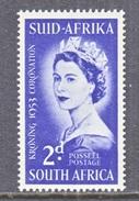 SOUTH  AFRICA  192   **   Q E II  CORONATION  1953 - South Africa (...-1961)