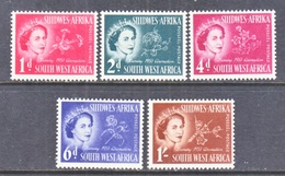 SOUTH  WEST AFRICA  244-8   *   Q E II  CORONATION  1953 - South West Africa (1923-1990)