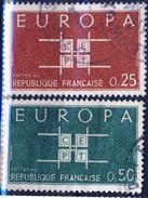 1396 1397  EUROPA OBLITERE ANNEE 1963