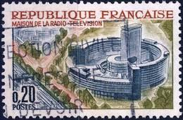 1402 MAISON De La RADIO OBLITERE ANNEE 1963