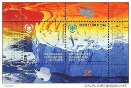 Polar Philately Estonia 2009 MNH Sheet Protection Of Polar Areas And Glaciers. Antarctica, Giant Iceberg With Deep Cre