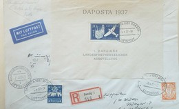 O) 1937 GERMANY, REGISTERED DANZIG LUFPOST, SCOTT C41,MIT LUFPOST, XF
