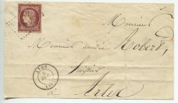 N°6 Belle Couleur + Pc 1818/devant De Lettre De Lyon Pour Arles